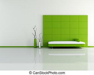 vida, verde, habitación, mínimo