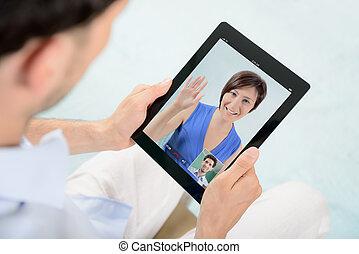 Video chat de comunicación