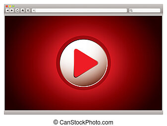Video rojo de Internet