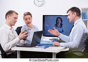 Videoconferencia con el jefe