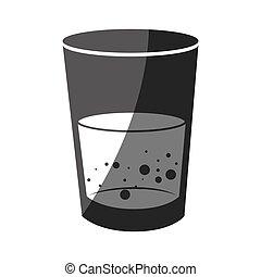 vidrio, agua, uso, instrucción