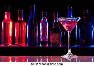 vidrio, bebida, barra, cóctel
