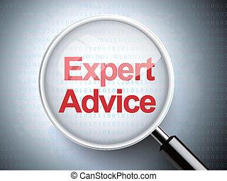 vidrio, consejo, palabras, experto, aumentar