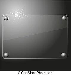 vidrio, plano de fondo, placa
