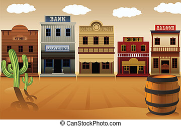 Vieja ciudad occidental