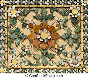 Vieja floral, azulejo de cerámica