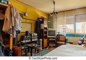 Vieja habitación retro