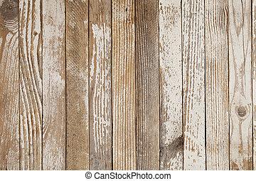 Vieja madera pintada de blanco