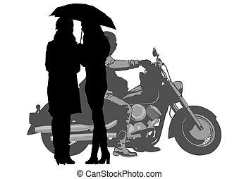 Vieja moto cuatro