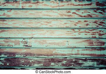 Vieja pared de madera sucia, Vintage procesada