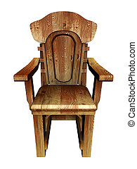 Vieja silla de madera con estilo.