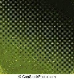 Vieja tarjeta verde rayada con media gradiente