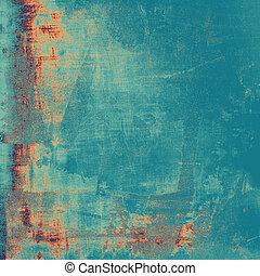 Vieja textura con delicado patrón abstracto como fondo grunge. Con diferentes colores: cian; azul; amarillo (beige)