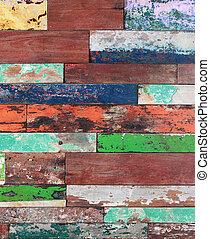 Vieja textura de madera pintada