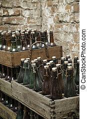 Viejas botellas de cerveza