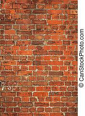 viejo, colorido, pared, británico, fondo., ladrillo, rojo