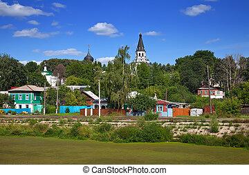 Viejo distrito en Aleksandrov