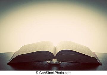 viejo, fantasía, luz, libro, imaginación, above., educación, abierto