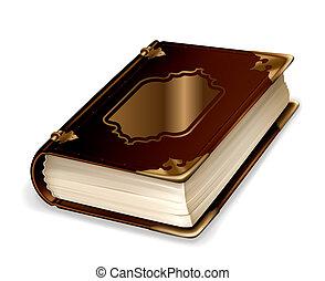 Viejo libro, vector