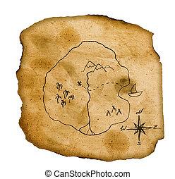 Viejo mapa del tesoro