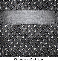 viejo, metal, plano de fondo, textura