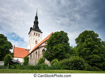 viejo, nicholas, iglesia, pueblo, s.