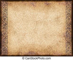 Viejo pergamino o papel
