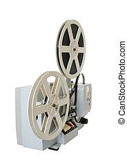 Viejo proyector de cine soviético
