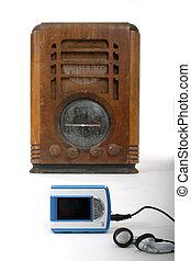 Viejo radio nuevo reproductor MP3 1