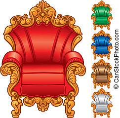 Viejo sillón antiguo