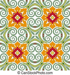 Viejos azulejos florales