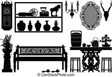 Viejos muebles tradicionales