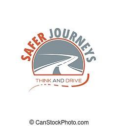 Viento de carretera o carretera de diseño de iconos aislados