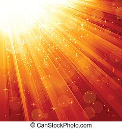 vigas, magia, estrellas, luz, descendente
