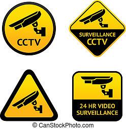 Vigilancia de video, poner símbolos