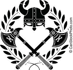 viking, glory., stencil., varian, primero