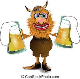 Vikingo con cerveza