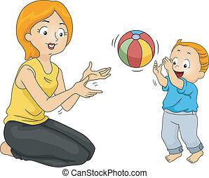 vinculación, madre, hijo