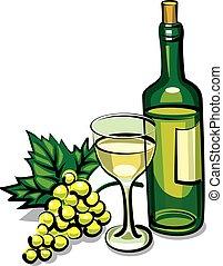 Vino seco blanco