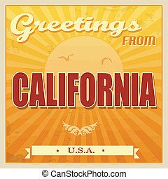 Vintage california, póster de EE.UU
