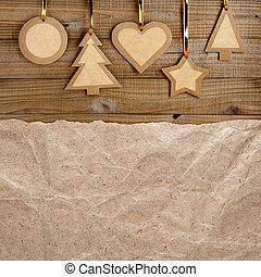 Vintage de la Navidad en madera