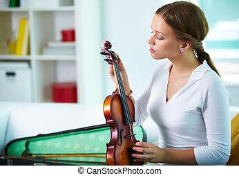 violín, afinación