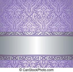 Violet y plata de lujo