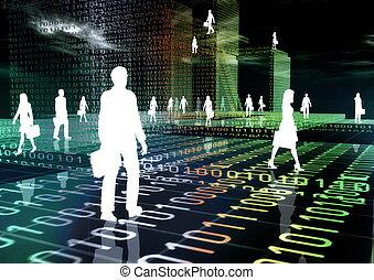 virtual, empresa / negocio