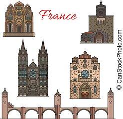 Visiones de viajes de Francia, lugares turísticos famosos