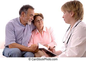Visitando a un médico