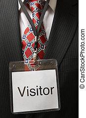visitante, etiqueta