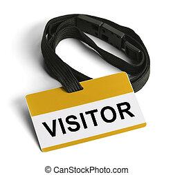visitante, insignia