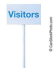 visitantes, señal