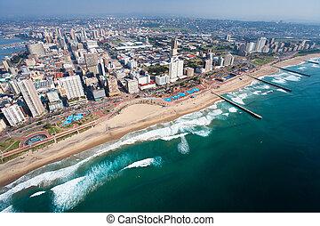Vista aérea de Durban, Sur de África
